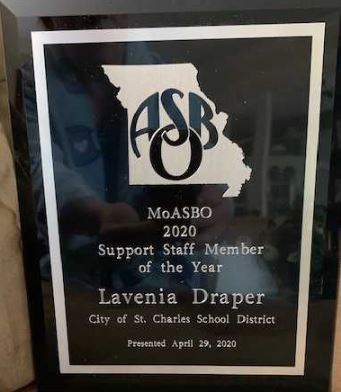 MoASBO Announces the Support Staff Member of the Year